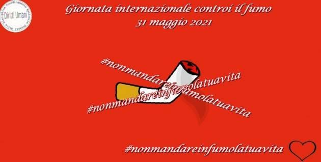 CNDDU Il 31 maggio Giornata internazionale contro il fumo 2021