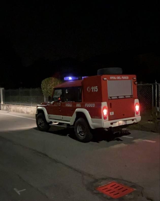 ALTRA FUGA DI GAS CON INCENDIO A OMBRIANO - FOTO E VIDEO