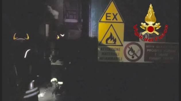 INCENDIO IN FABBRICA DI INCHIOSTRI - FOTO E VIDEO