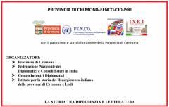 Provincia Cremona Al via ciclo incontri  su storia, tra diplomazia e letteratura