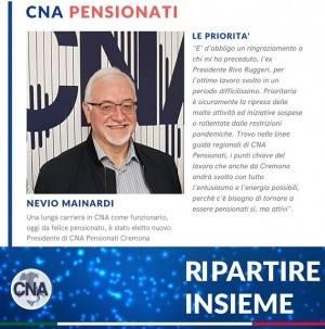 CNA Nevio Mainardi eletto Presidente Pensionati CNA Cremona