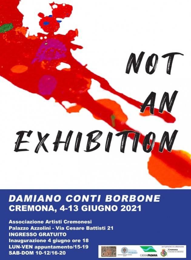 AAC presenta  'Not an exhibition' di Damiano Conti Borbone mostra di pittura