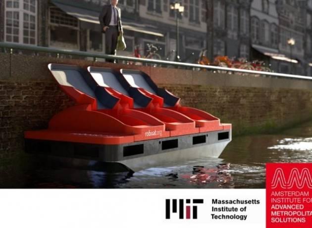 Ad Amsterdam si testano barche elettriche autonome per raccogliere rifiuti e come taxi