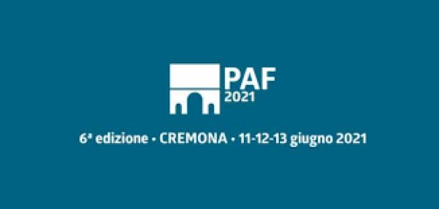Giovedì 10 giugno saranno inaugurate due mostre nel programma del PAF 2021