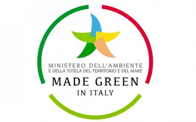 ''Made Green in Italy'': decolla il marchio nazionale di qualità ambientale