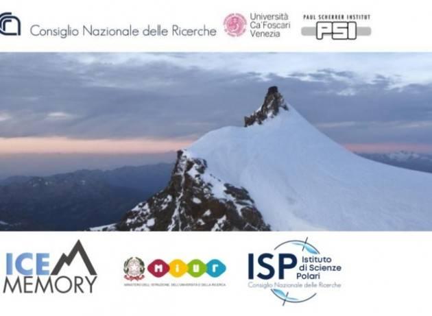 Il ghiaccio del Monte Rosa, il più antico delle Alpi, sarà conservato in Antartide