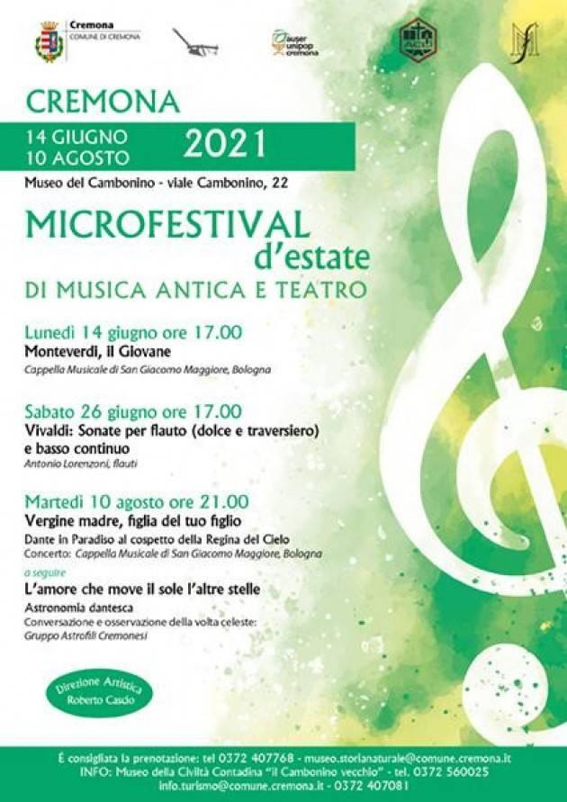 Inizia il Microfestival d'estate di Musica Antica e Teatro