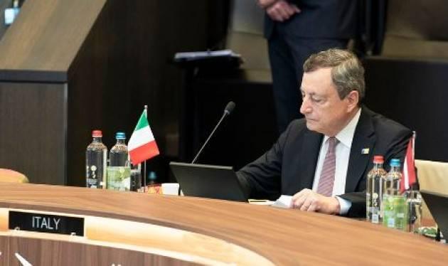 Draghi al vertice Nato