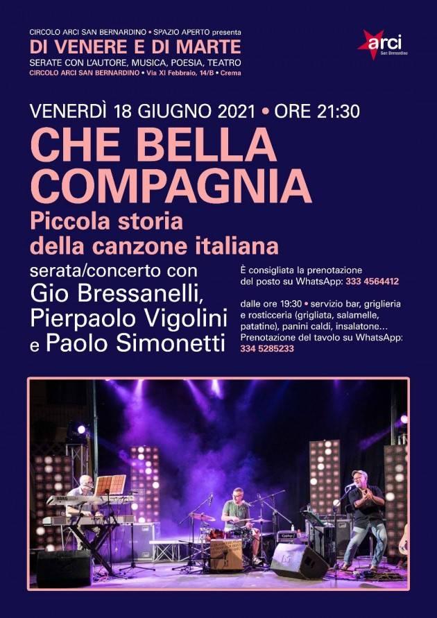 Concerto 18/6 Arci S. Bernardino Crema