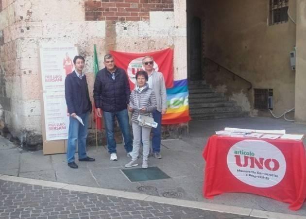 Banchetto ARTICOLO UNO a Cremona sabato 19 e 26 giugno 2021