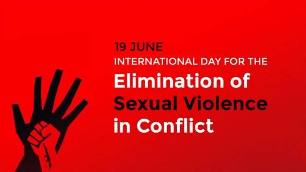 CNDDU 19 giugno. Giornata Eliminazione Violenza Sessuale  Conflitti 2021