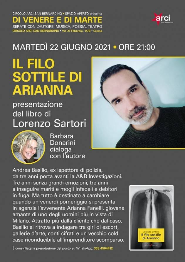Crema Lorenzo Santori All'Arci San Bernardino