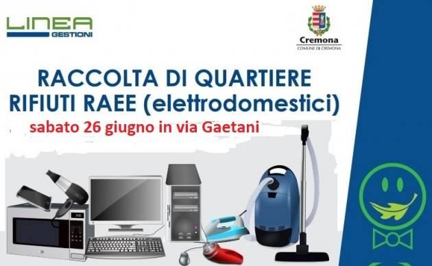 Cremona Raccolta dei RAEE (elettrodomestici) a Cavatigozzi