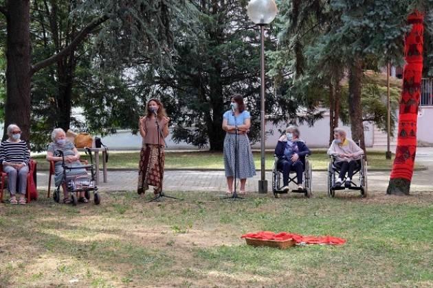 Cremona Casa Riposo La Pace Inaugurazione delle 'Le fate degli alberi'