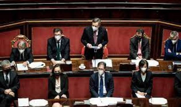 Draghi in Parlamento