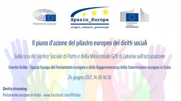 I diritti sociali in Europa nel prossimo decennio: OGGI l'evento