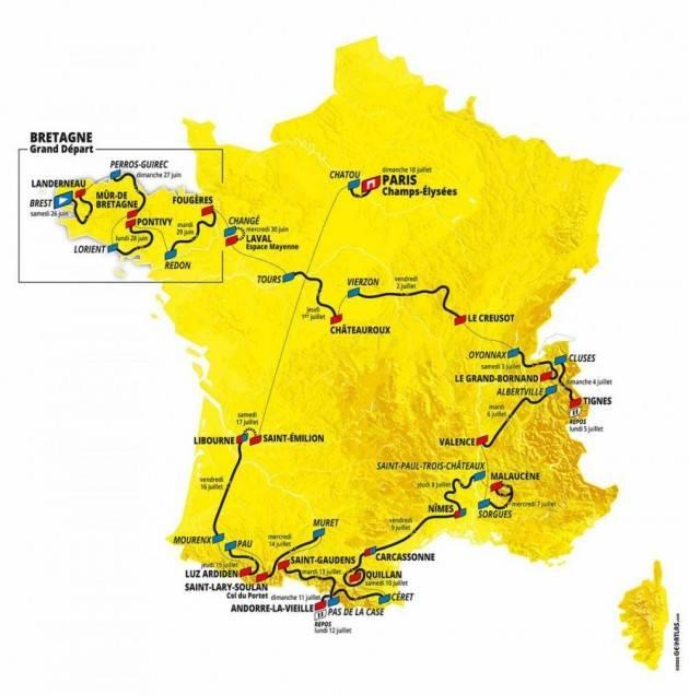 I partecipanti al TOUR DE FRANCE  2021