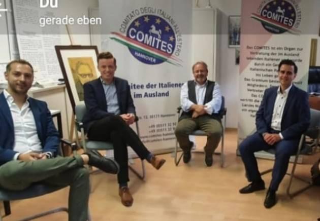 Hannover / Il Presidente Scigliano incontra due giovani promesse della SPD