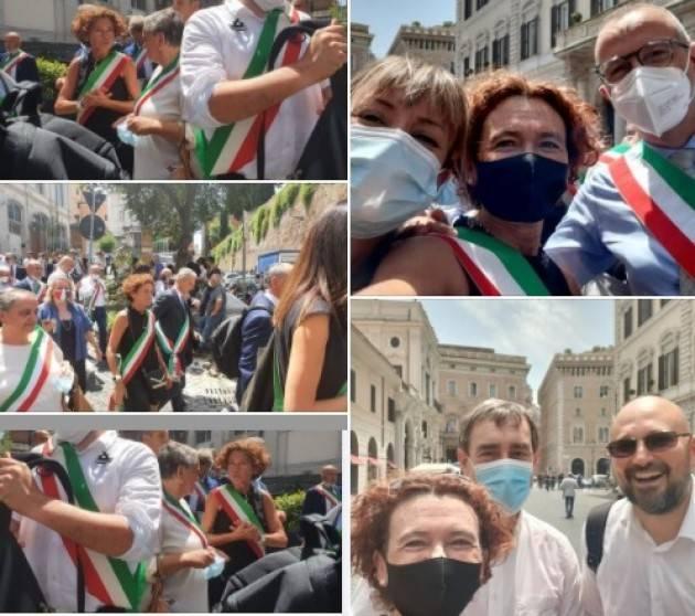 Stefania Bonaldi a Roma per la dignità dei Sindaci