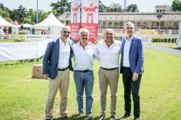 Antonello e Gazidis alla Milano Jumping Cup