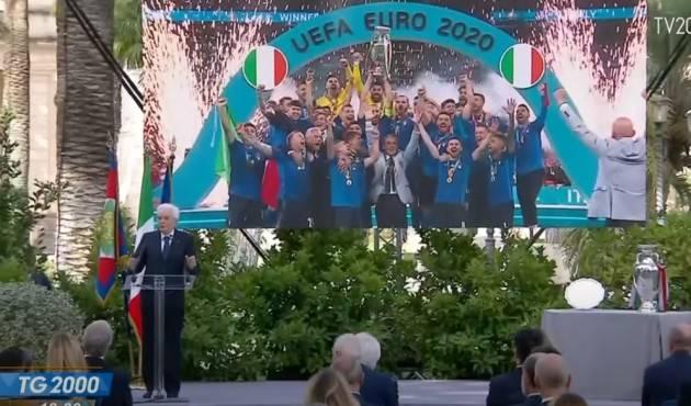 L'Italia festeggia la coppa Uefa Euro 2020 Alcuni video