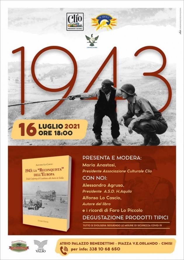Cinisi, si presenta il libro di Alfonso Lo Cascio 1943: la Reconquista dell'Europa.