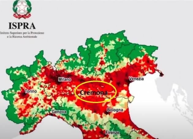 Consumo di suolo, Ispra: Cremona perde oltre 56 ettari nel 2020