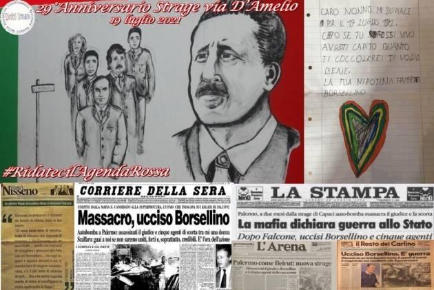 CNDDU Commemorazione 29° Anniversario strage Via D'Amelio. Proposte didattiche
