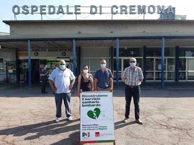 PD Riforma della sanità lombarda: banchetto informativo all'ospedale di Cremona