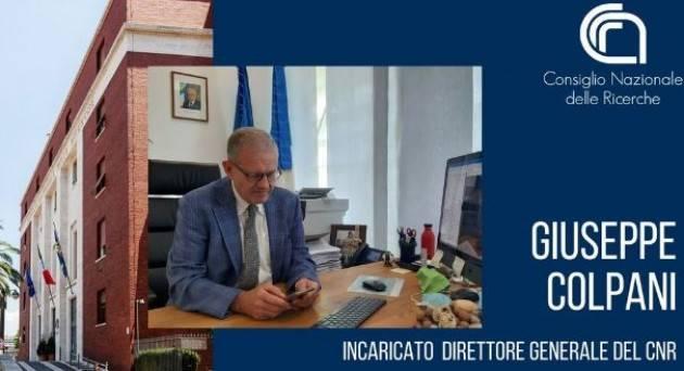 Giuseppe Colpani nuovo Direttore Generale del Cnr