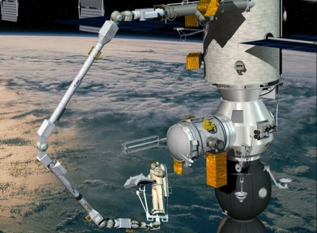 Lanciato nello spazio il braccio robotico dell'ESA