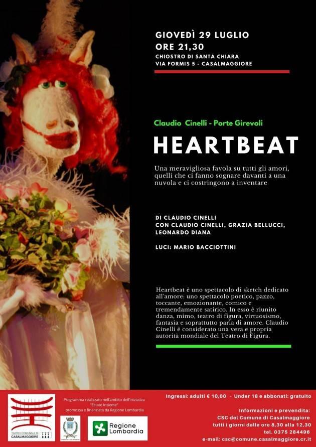 Claudio Cinelli e Porte Girevoli con 'HEARTBEAT' a Casalmaggiore