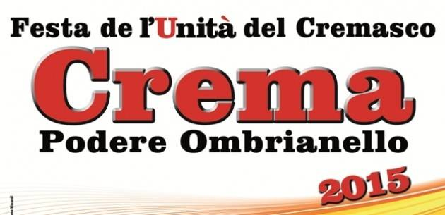 Ritorna Festa Unità Ombrianello Crema: 26-31/8 2021 Il Programma