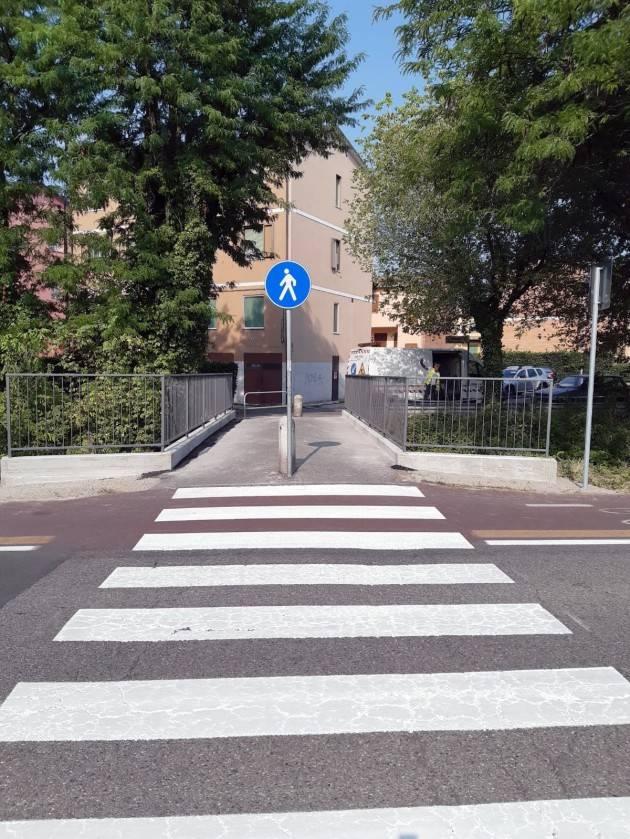 Crema restauro ponticello via Treviglio