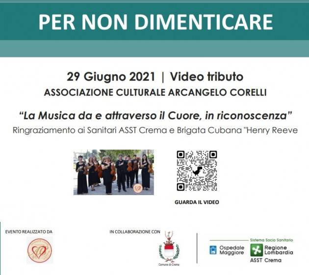 ASST CREMA - Video tributo Associazione Arcangelo Corelli