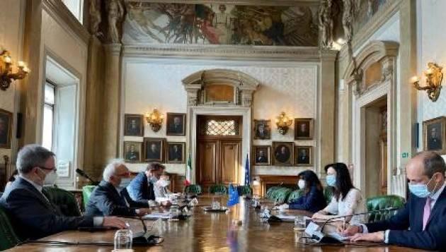 Il Ministro Bianchi incontra la Commissaria europea Mariya Gabriel