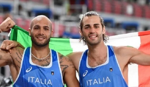 Tokyo2020 Italia in vetta  Due ori da leggenda:  Jacobs nei 100 e Tamberi salto
