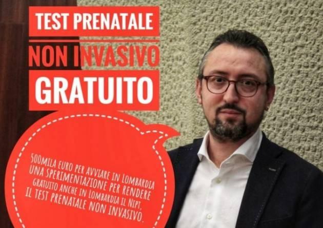 Matteo Piloni (Pd) TEST PRENATALE NON INVASIVO GRATUITO. FINALMENTE LE RISORSE!