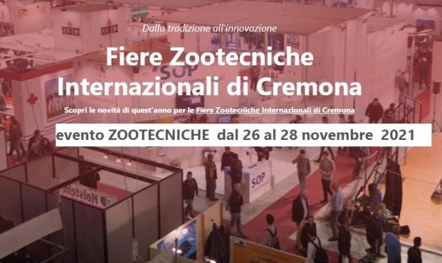 CremonaFiere Confermato l'evento ZOOTECNICHE  dal 26 al 28 novembre  2021