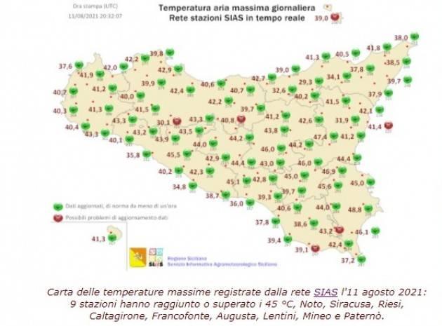 Va a Siracusa il record europeo della crisi climatica: 48,8 °C