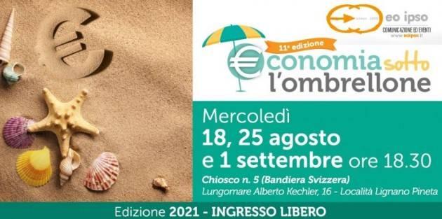 A Lignano Sabbiadoro l'11° edizione della rassegna Economia sotto l'Ombrellone