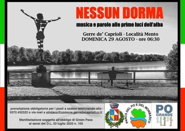 All'alba del 29 agosto a Gerre de' Caprioli la seconda edizione di 'Nessun dorma'