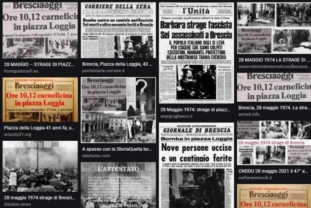 Brescia I Familiari Caduti Strage Piazza Loggia scrivono a Draghi