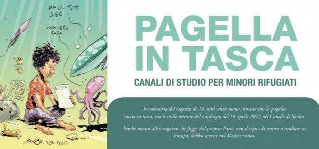 Cremona Pianeta Migranti.Pagella in tasca,canali studio per minori rifugiati.
