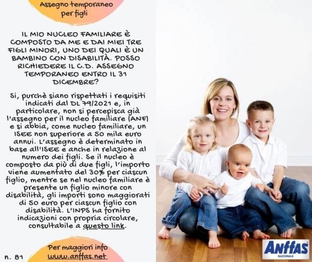 Anffas Cremona  Assegno temporaneo per figli