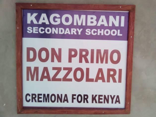 La scuola di Kagombani  intitolata a Don Primo Mazzolari   Licio D'Avossa