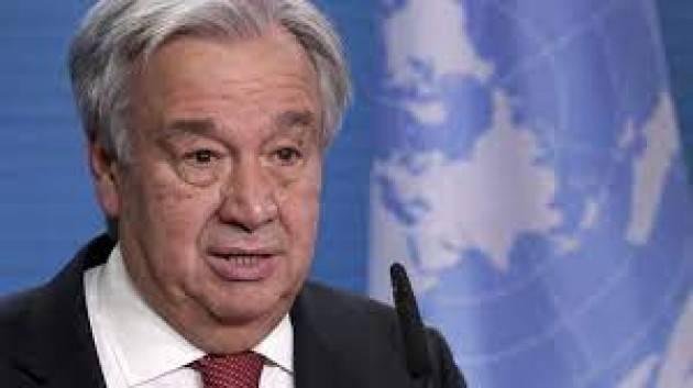 Di Maio sente il Segretario Generale dell'Onu Guterres