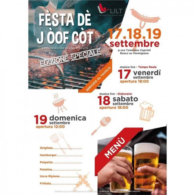 Il 17, 18 e 19 settembre prossimi torna la ' Fèsta dè j òof còt' al Bosco ex Parmigiano