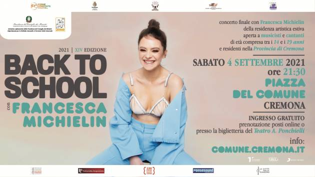 Cremona Back to School, conto rovescia per concerto con Francesca Michielin