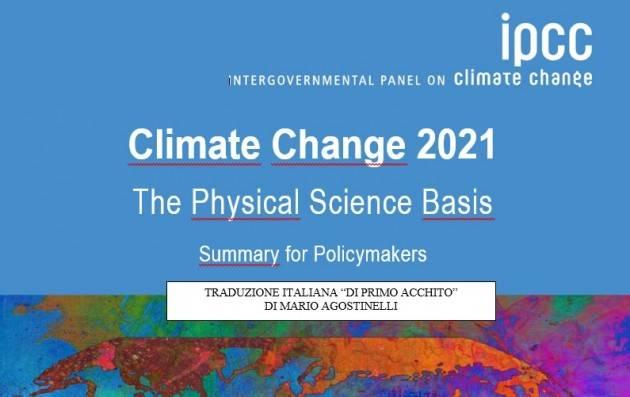 Climate Change 2021 Taduzione italiana di Mario Agostinelli